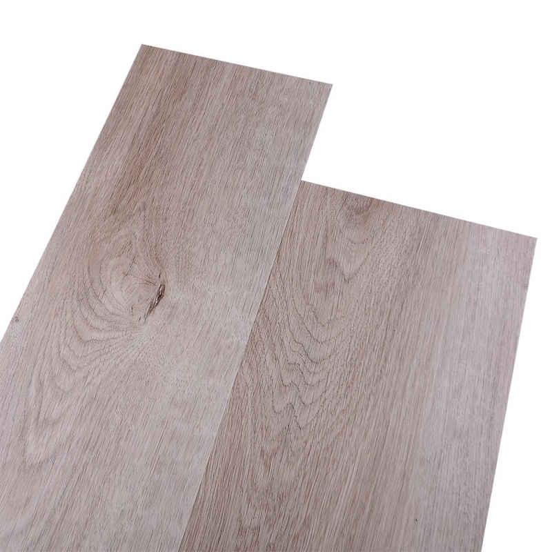 euroharry Vinylboden »Euroharry PVC Vinyl-Bodenbelag Laminat Dielen 2mm Geklebte Vinylboden Designboden Fußböden 1m² Wasserfest/Rutschfest Color : Eiche Hellbraun«