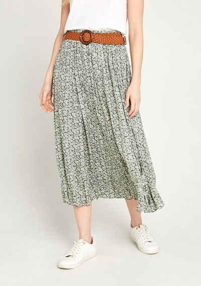 Apricot Sommerrock »Vintage Pebble Daisy Skirt« (2-tlg., mit abnehmbarem Gürtel) mit Blumenmuster