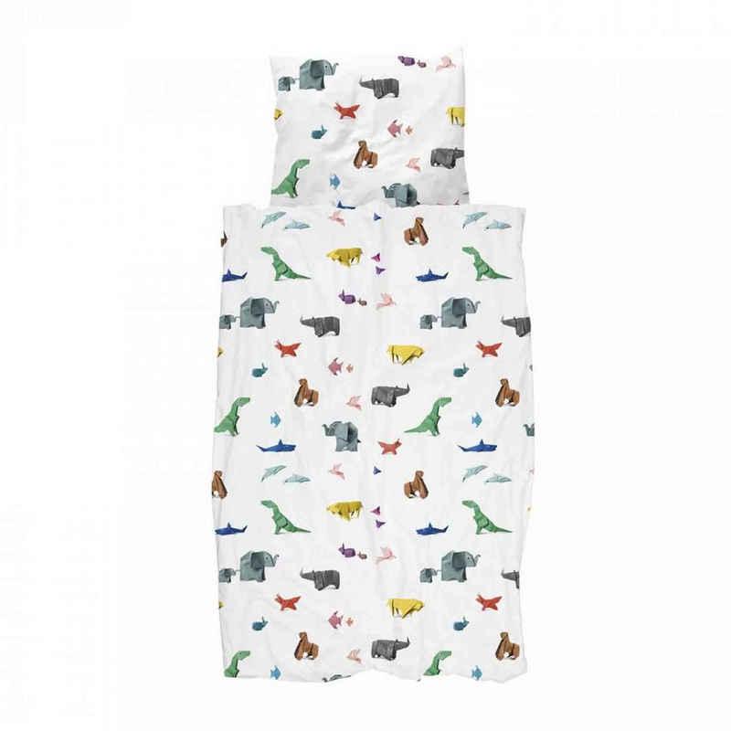 Bettwäsche »Snurk Bettwäsche Paper Zoo 135 x 200 cm 100% Baumwolle«, Snurk