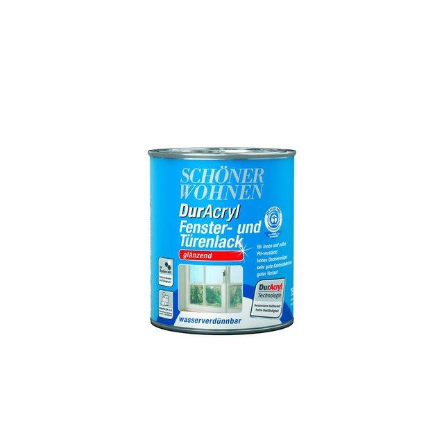 DurAcryl Fenster- und Türenlack, glänzend, weiß