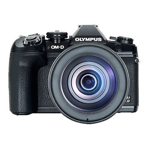 Olympus »E-M1 Mark III 12-100mm Kit blk/blk« Spiegelreflexkamera (21,8 MP, WLAN (WiFi), Bluetooth)