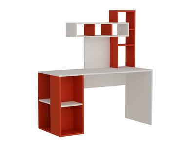 moebel17 Schreibtisch »Schreibtisch Coral Weiß Rot«