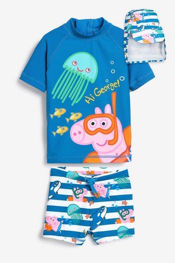 Next Badeanzug »George Pig Set mit Rash-Trägertop, Shorts und Hut« 3 Stück