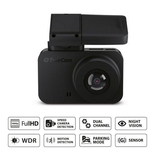 TrueCam »M7 GPS Dual Full HD« Dashcam (mit praktischer Radarwarnung)