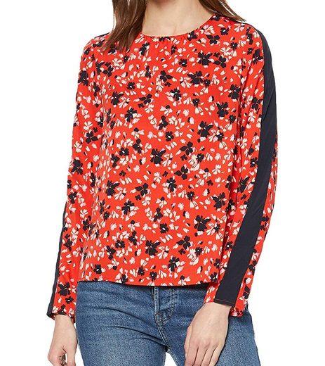 Vero Moda Blusentop »VERO MODA Bluse seidig weiche Langarm-Bluse für Damen mit angesagtem Muster Ausgeh-Shirt Rot«