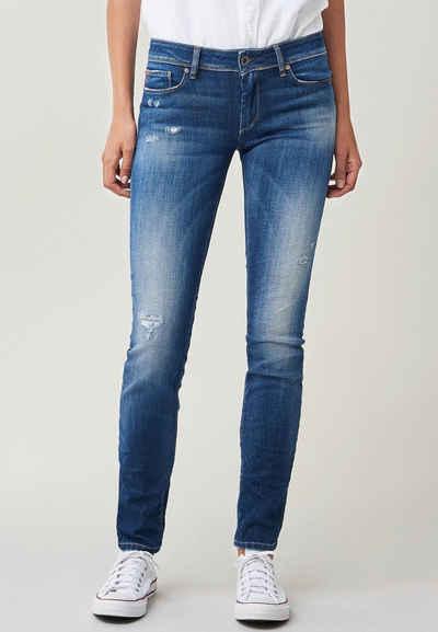 Salsa Slim-fit-Jeans »Wonder« Push Up Slim mit Furchen