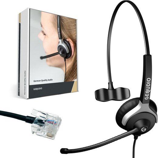 GEQUDIO Headset (Headset 1-Ohr für Unify mit Kabel)