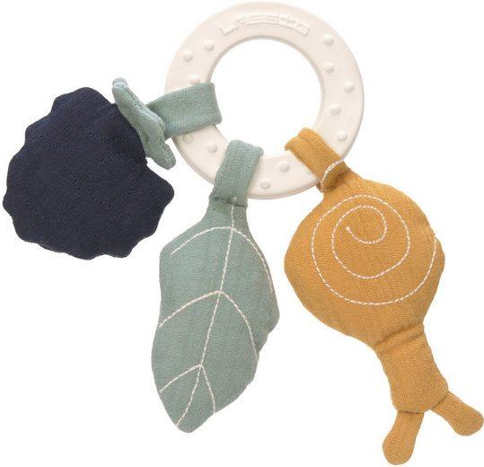 LÄSSIG Beißring »Garden Explorer, Snail«, mit Greiffunktion; PETA-approved vegan; Enthält Bio-Baumwolle