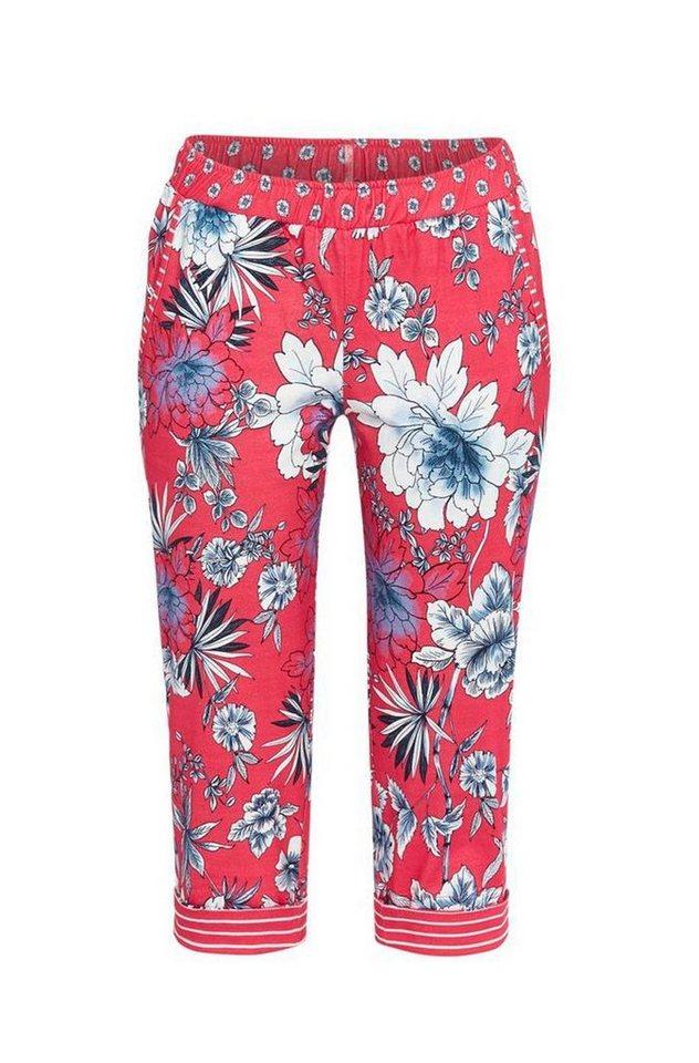 Ringella Pyjama mit 7//8 Hose Baumwolle Schlafanzug Damen