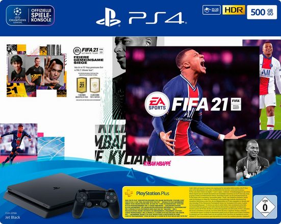 PlayStation 4 Slim, inkl. FIFA 21