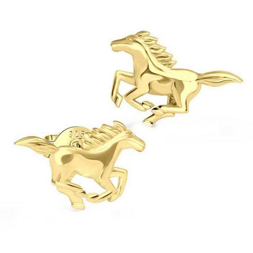schmuck23 Paar Ohrstecker »Ohrringe Pferd 925 Silber Damen Kinder Mädchen«, Silberschmuck Pony Reiten