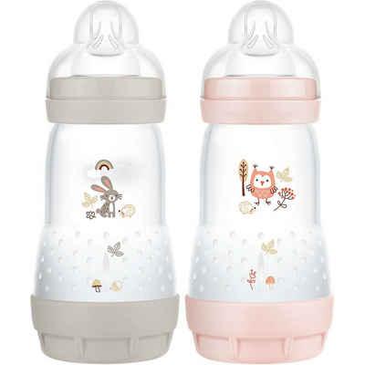 MAM Babyflasche »MAM Easy Start Elements, 260 ml, Hase/Eule, 2er«