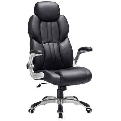 SONGMICS Chefsessel »OBG65BK«, Bürostuhl, ergonomischer Drehstuhl, schwarz