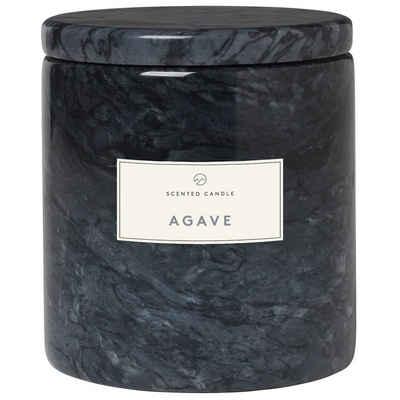 BLOMUS Duftkerze »Frable AGAVE; Wohlduftende Kerze in dekorativem Marmorgefäß in Magnet; Palmölfrei«