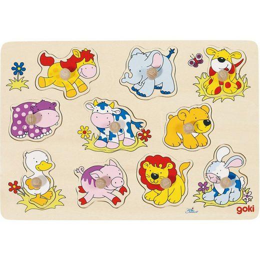 goki Steckpuzzle »Steckpuzzle Tierkinder II«, Puzzleteile