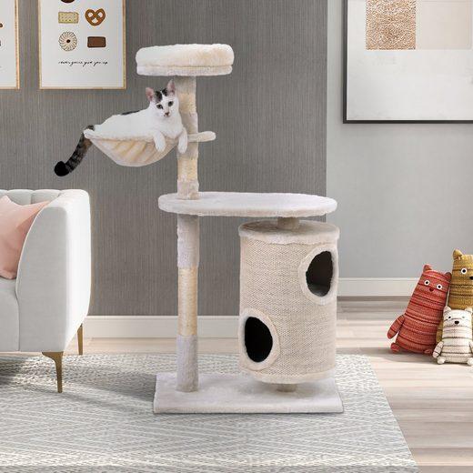 Flieks Kratzbaum »PURELOVE«, Katzenbaum mit Kratztonne und Zylindrisches Katzenhaus, 112x60x39.5cm