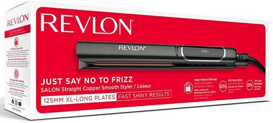 Revlon Glätteisen »RVST2175« ColourProtect-Keramik-Beschichtung, 125 mm lange, abgerundete, bewegliche Platten in 10 Sekunden einsatzbereit
