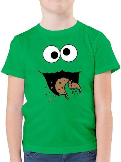 Shirtracer T-Shirt »Keks-Monster - Jungen Kinder T-Shirt«