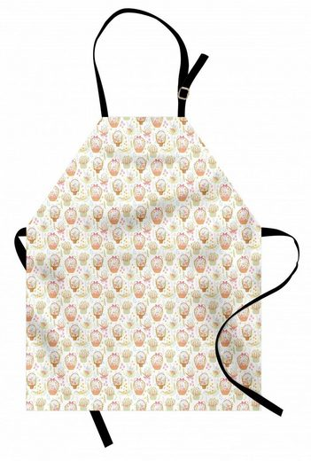 Abakuhaus Kochschürze »Höhenverstellbar Klare Farben ohne verblassen«, Blumen Pastel Tone Bouquet Baskets