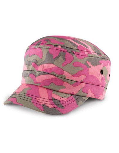 Result Headwear Army Cap »Cuba-Cap Military Kappe« Vorgebogener Schirm mit vier Steppnähten