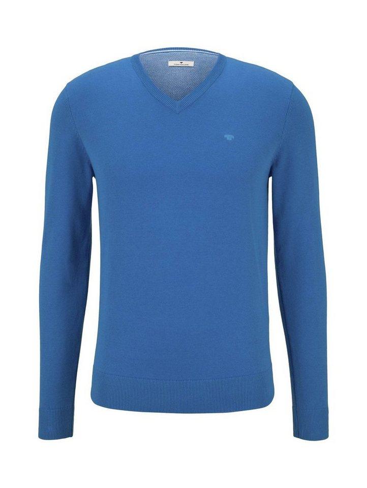 tom tailor -  V-Ausschnitt-Pullover »Basic Strickpullover mit V-Ausschnitt«