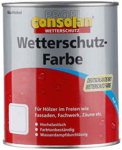 Consolan Wetterschutzfarbe »Profi Holzschutz«, 0,75 Liter, blau