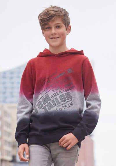 TOM TAILOR Polo Team Kapuzensweatshirt »mit Farbverlauf«