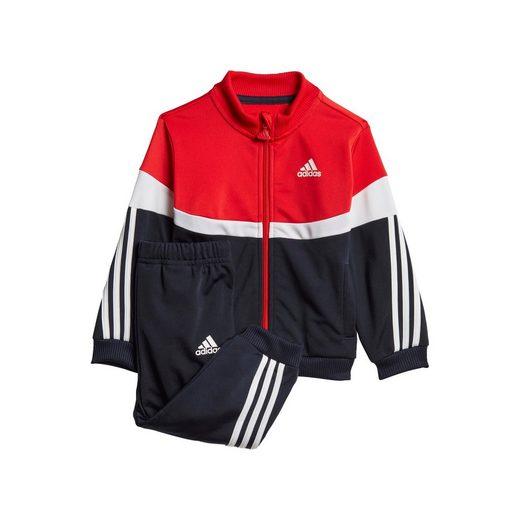 adidas Performance Trainingsanzug »SHINY BADGE OF SPORT 3-STREIFEN« (Set, 2-tlg)