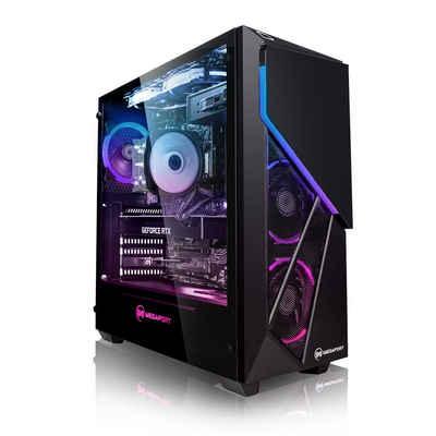 Megaport Gaming-PC (Intel Core i7-11700F 8x2,50 GHz, GeForce RTX 3060Ti, 16 GB RAM, 1000 GB HDD, 480 GB SSD, Windows 10, WLAN)