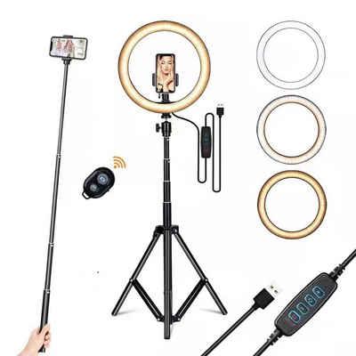 autolock Kamerazubehör-Set »Fuelllicht Ringlicht Zusatzlicht LED-Licht Faltlicht fuer Fotografie Livestream Make-up YouTube-Video mit Stativ Stand Remote Shutter«, (Passen)