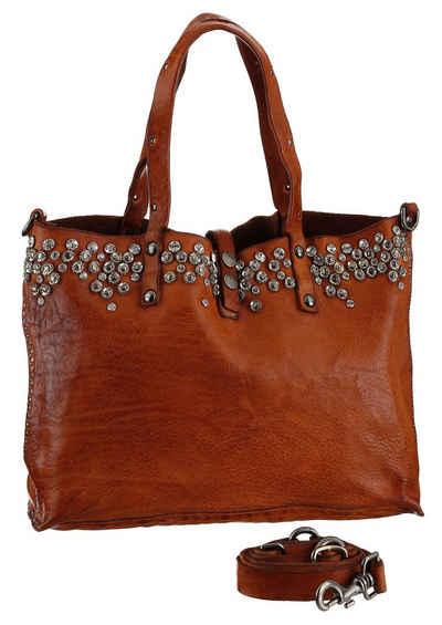 Campomaggi Shopper »Studs leather Bag«, aus hochwertigem Leder mit Nieten besetzt