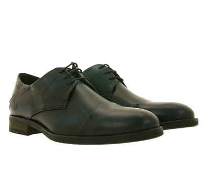 Bruno Banani »bruno banani Schnür-Halbschuhe edle Herren Echtleder Business-Schuhe in Used-Optik Anzugs-Schuhe Blau« Arbeitsschuh