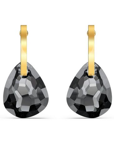 Swarovski Paar Ohrstecker »T Bar Ohrringe, grau, vergoldet, 5565999«, mit Swarovski® Kristallen