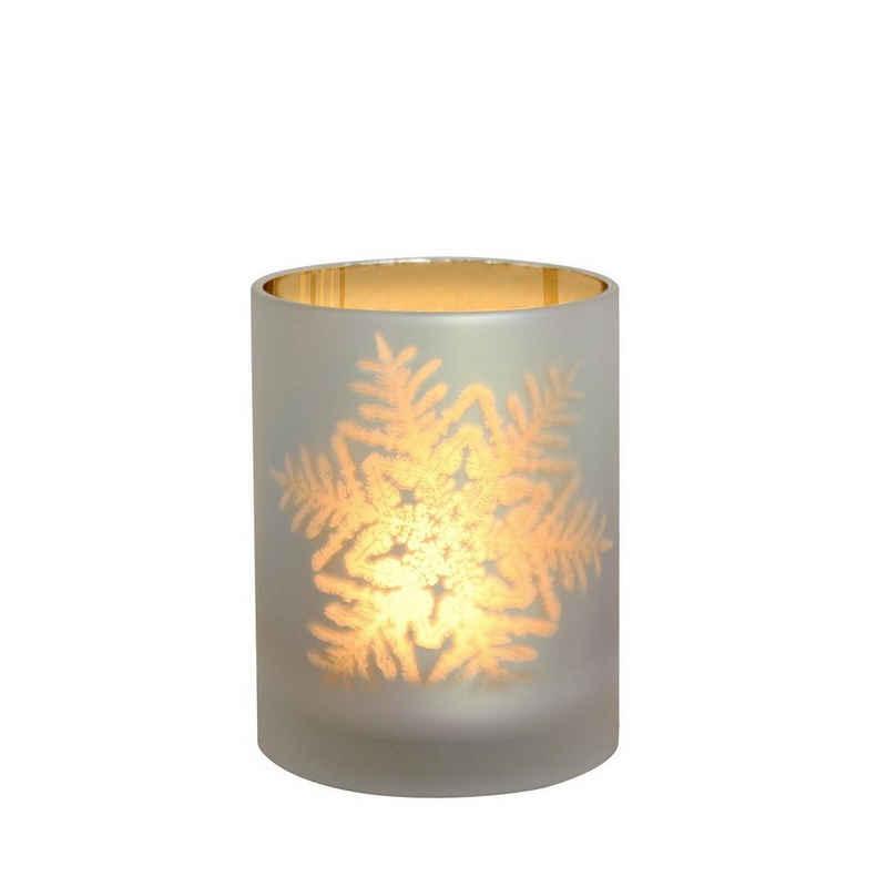 440s Windlicht »440s Glas Windlicht SNOWFLAKE H ca.12 cm«