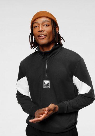 PUMA Sweatshirt »Rebel Half-Zip TR«