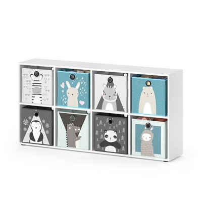 Vicco Raumteiler »Kinderregal 8 Fächer inklusive Kinder Faltboxen Bücherregal Aufbewahrungsregal Spielzeug«