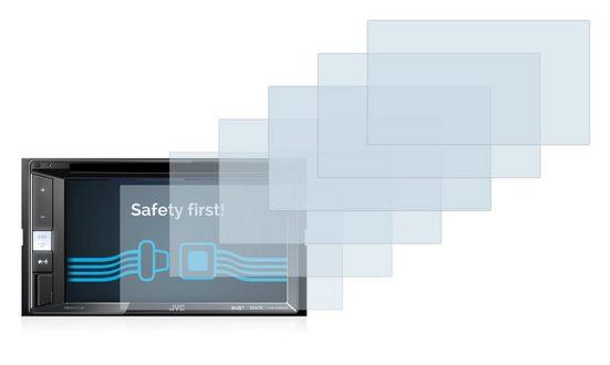 Savvies Schutzfolie »für JVC KW-V250BT«, (6 Stück), Folie Schutzfolie klar
