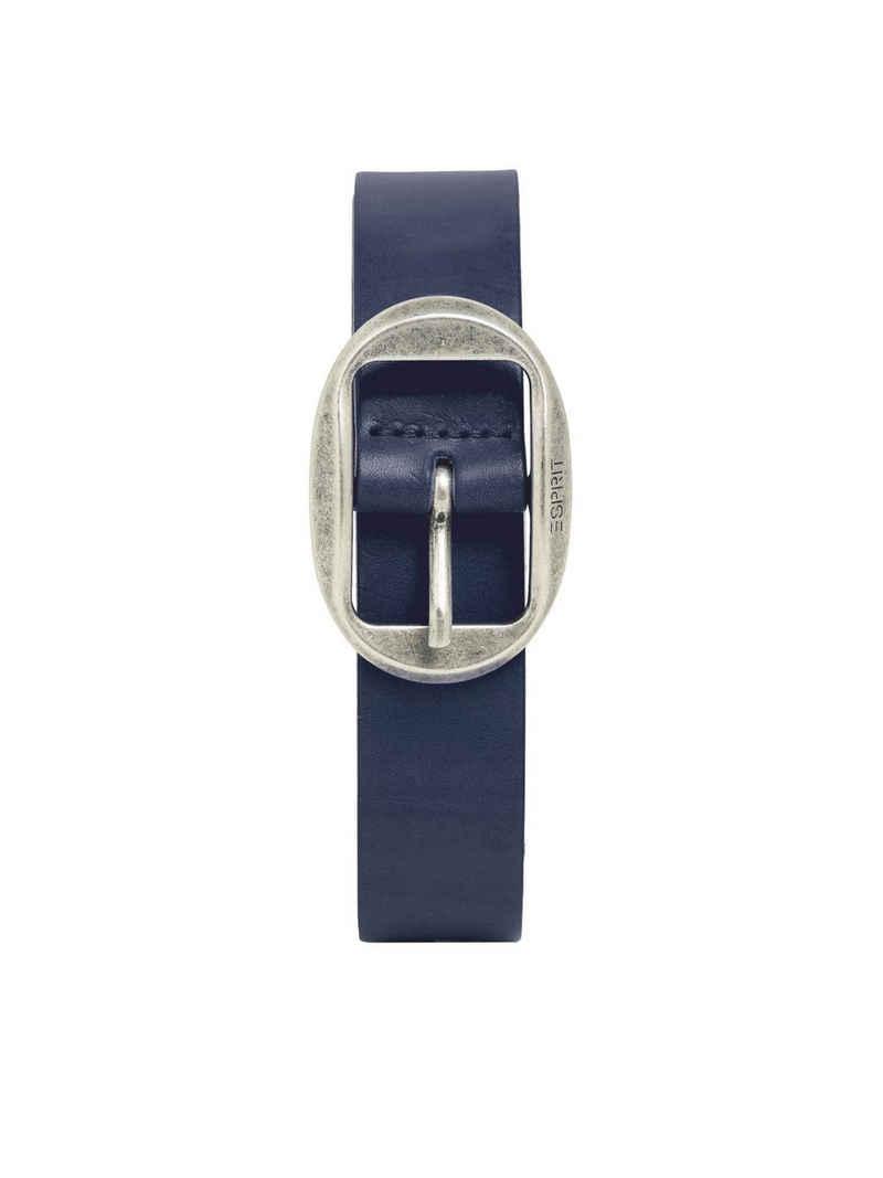 Esprit Ledergürtel »Gürtel mit Vintage-Schnalle, aus Leder«
