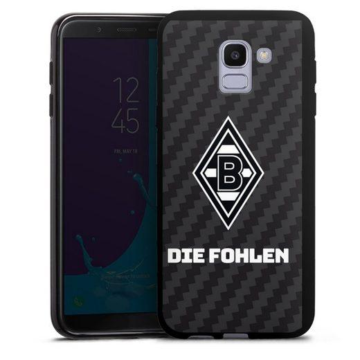 DeinDesign Handyhülle »Die Fohlen Carbon« Samsung Galaxy J6 (2018), Hülle Borussia Mönchengladbach Carbon Gladbach