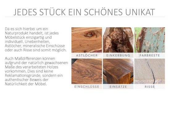riess-ambiente Beistelltisch »CASTLE 30cm natur«  aus Massivholz
