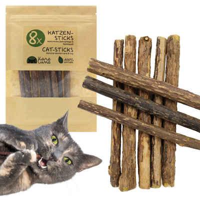 KaraLuna Tier-Beschäftigungsspielzeug »8 Katzensticks aus den Zweigen der Matatabi Pflanze«, Natürliches Katzenspielzeug und Zahnpflege für Katzen