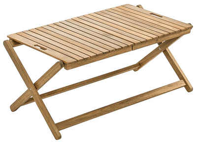Dehner Gartentisch »Tablett-Tisch Macao, klappbar, ca. 90 x 50 x 38 cm«