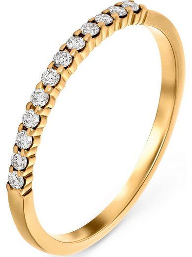 CHRIST Fingerring »CHRIST Damen-Damenring 12 Diamant«