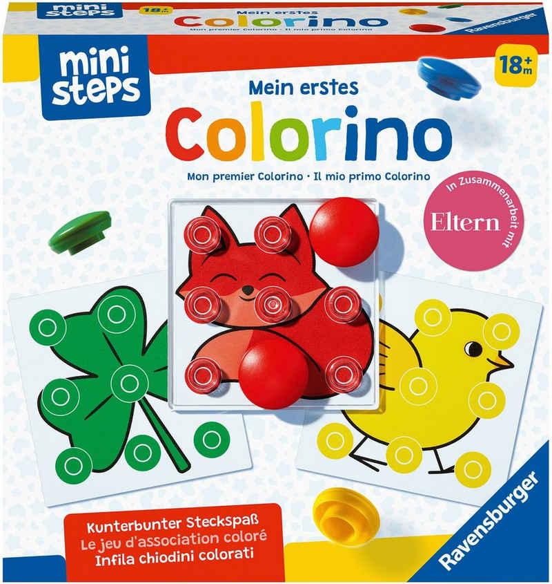 Ravensburger Spiel, Kinderspiel; Lernspiel »ministeps®, Mein erstes Colorino«, Made in Europe; FSC® - schützt Wald - weltweit