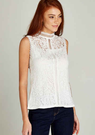 Apricot Spitzenbluse »Victoriana Lace Ladder Front Top« (1-tlg) mit Spitze