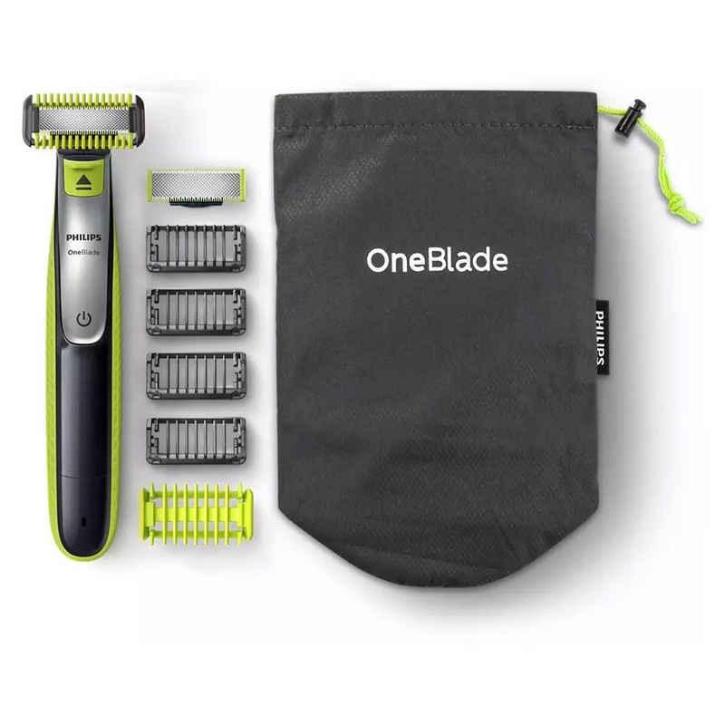 Philips Nassrasierer »QP2630/20 OneBlade Face + Body - Bartschneider - hellgrün/dunkelgrau«