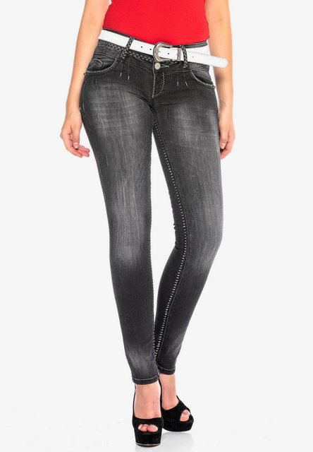 Hosen - Cipo Baxx Slim fit Jeans mit breiten Ziernähten in Slim Fit ›  - Onlineshop OTTO