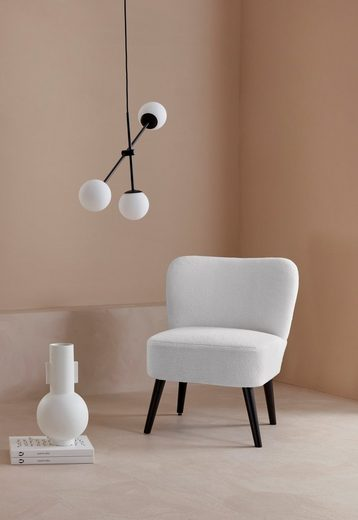 LeGer Home by Lena Gercke Sessel »Noabelle«, mit Holzbeinen und einem kuscheligen Luxus-Microfaser Teddy Optik Bezug, Sitzhöhe 48 cm