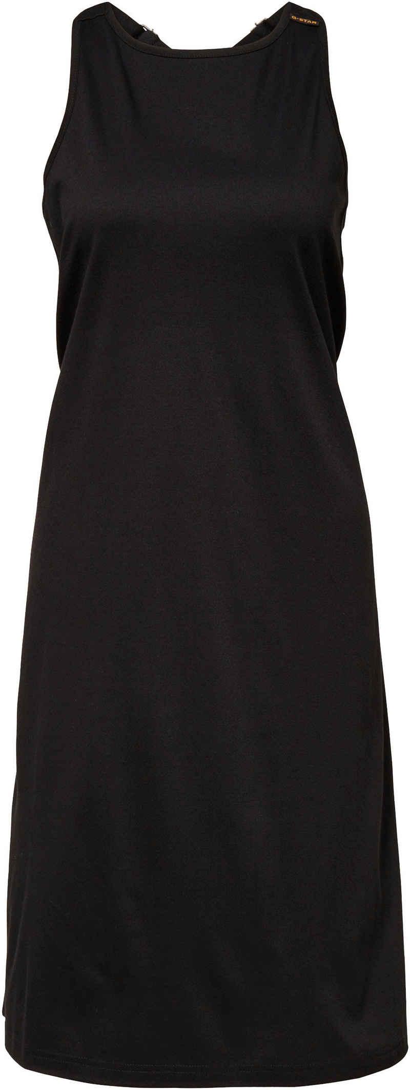 G-Star RAW Jerseykleid »Kleid A-line dungaree dress« mit verstellbaren Trägern hinten