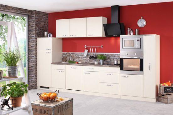 wiho Küchen Küchenzeile »Kansas«, mit E-Geräten, Breite 370 cm